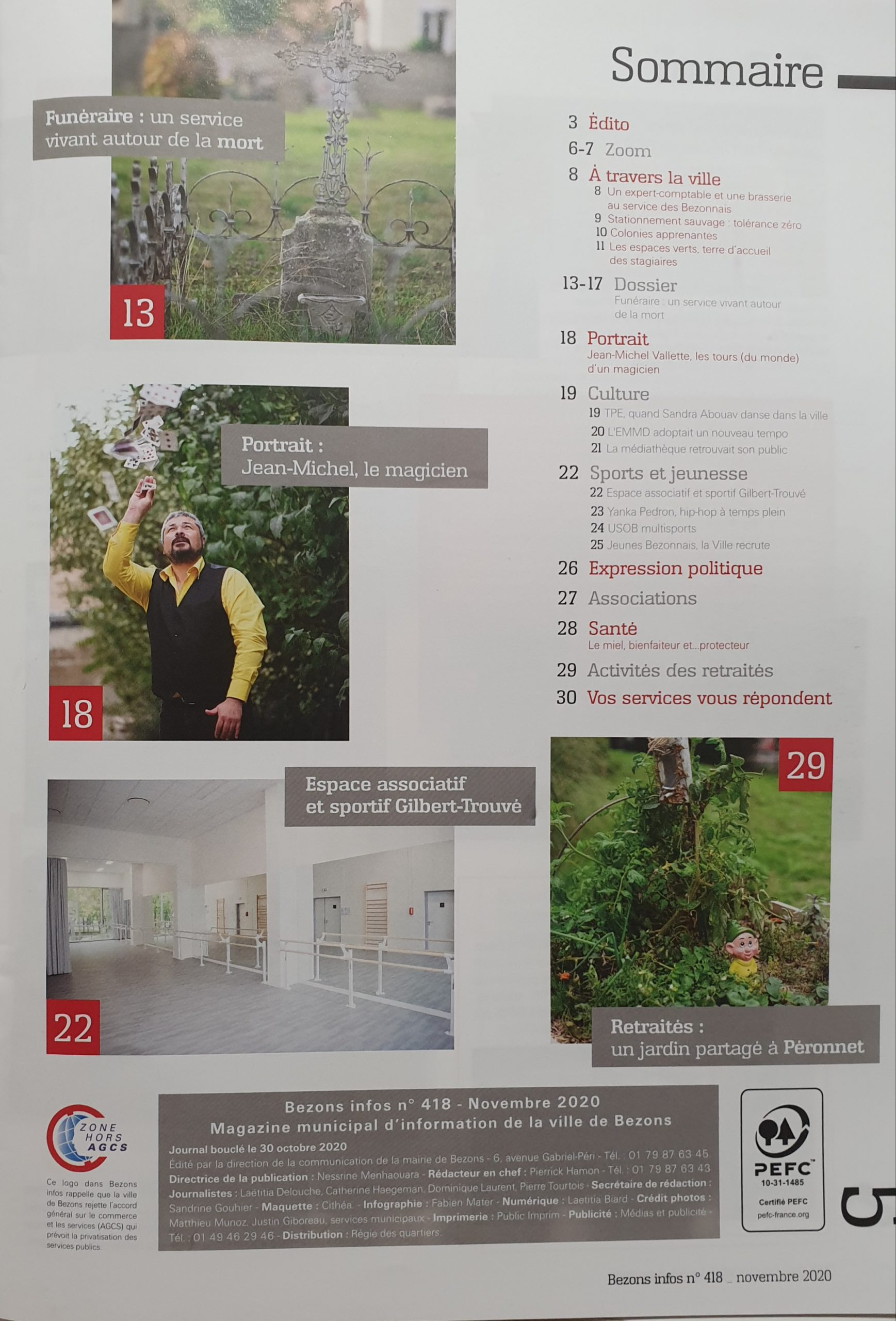 Sommaire Bezons info N°418
